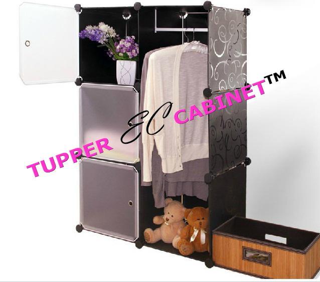 Tupper Cabinet 6 Cubes 3 Doors Blac (end 11/2/2017 11:08 PM)