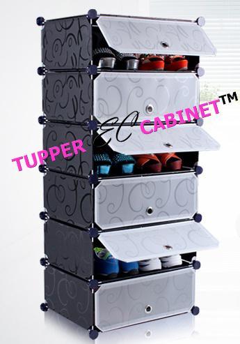 Good Tupper Cabinet 6 Tier Black Strip Shoe Rack Organizer Part 31