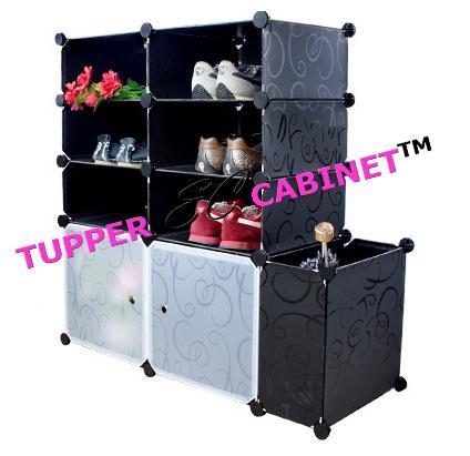 Tupper Cabinet 8 Tier Black Stripe (end 11/2/2017 11:12 PM)