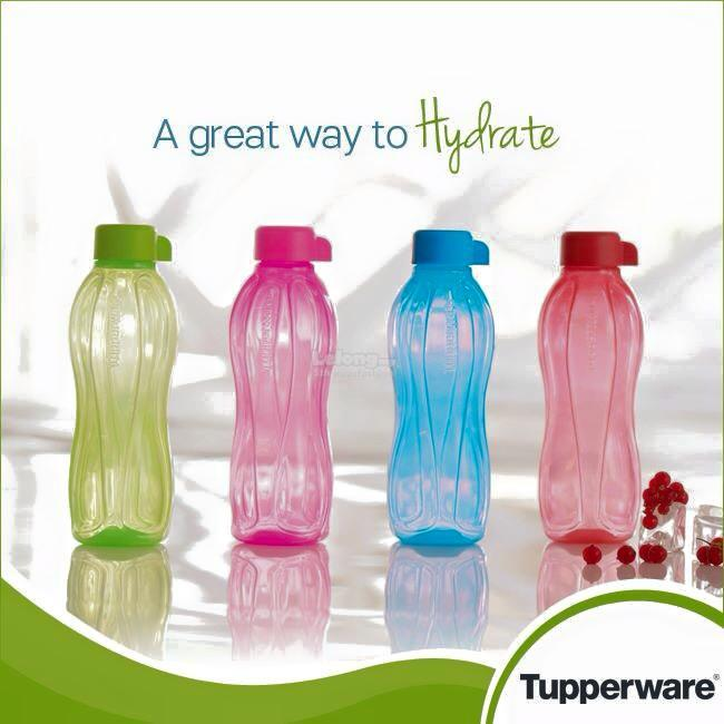Tupperware 500ml Eco Bottle (Red & Pink) Twin Set
