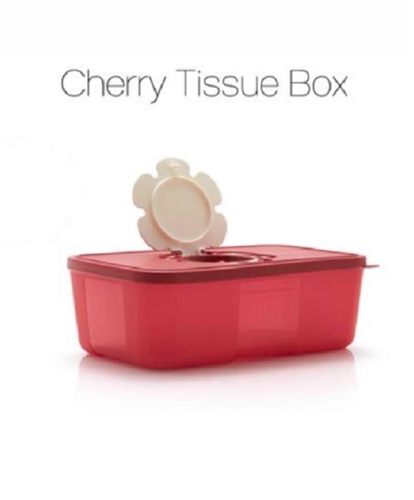 Tupperware Cherry Tissue Box. ‹ ›
