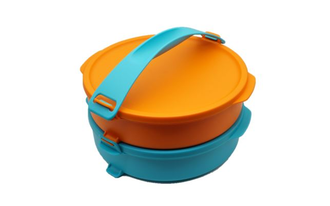 Tupperware Round Click To Go (2) 880ml