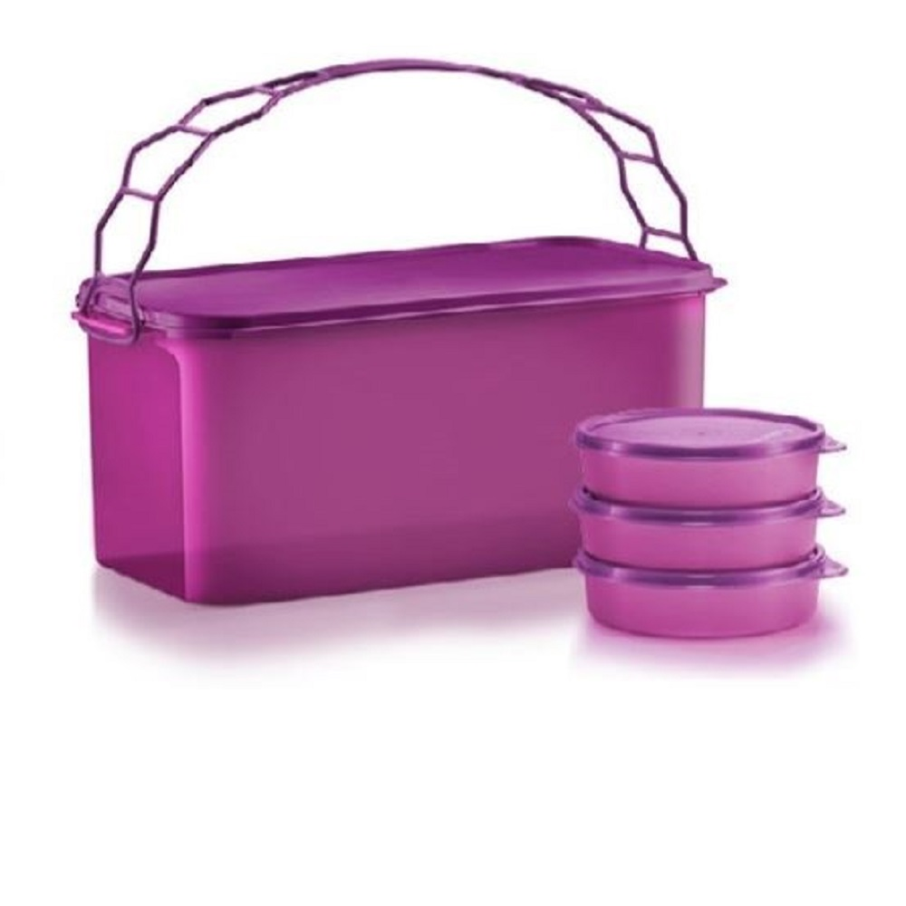 Tupperware Deep Carry All with Cariolier (1) 9.0L + Medium Handy Bowl