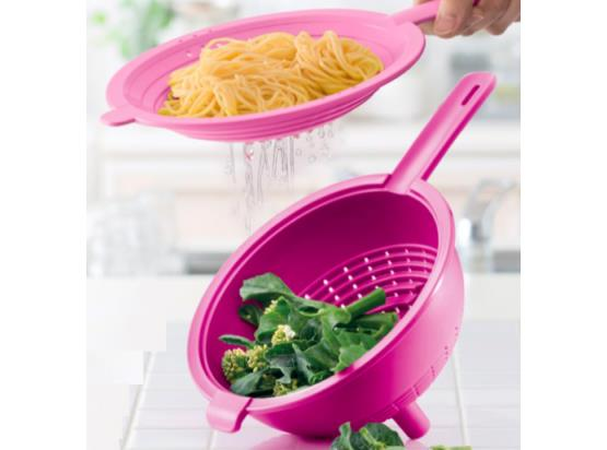 Tupperware Double Colander (1) Pink
