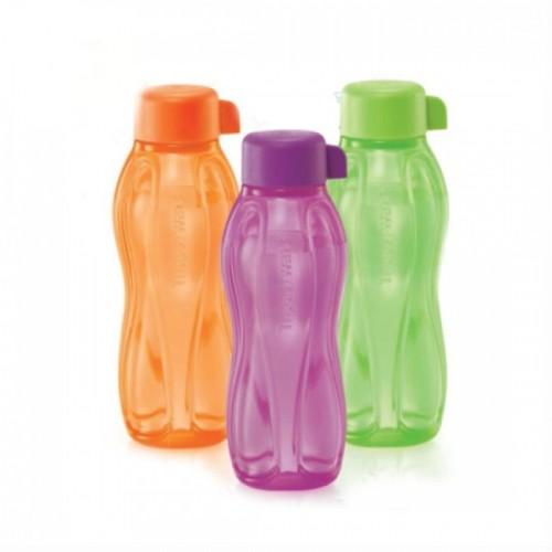 Tupperware Eco Bottle (3) 310ml - Green & Purple & Orange. ‹ ›