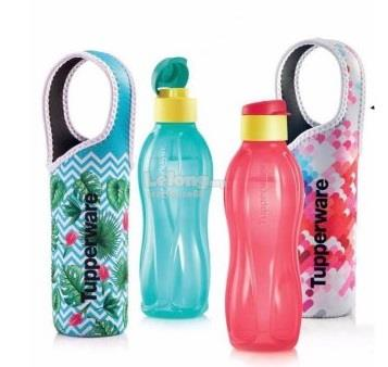 Tupperware Eco Bottle Flip Top (2) 750ml With pouch (2) 【Limite..