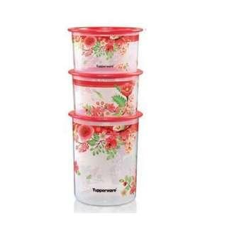 Tupperware Lucky Blooms One Touch Set