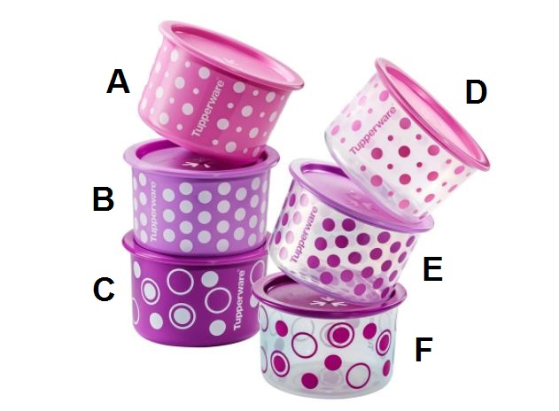 Tupperware Polka Pearls One Touch Topper (1pc) 600ml