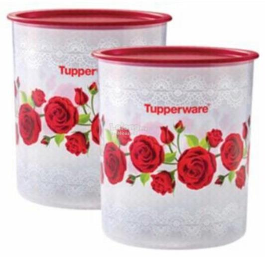 Tupperware Royal Red Rose One Touch Large 4.3L (1)