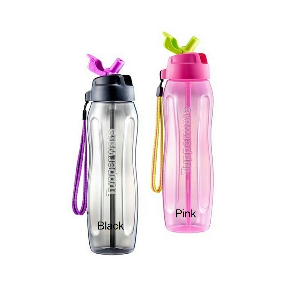 Tupperware Slim Eco Bottle with Straw (1pc) 750ml