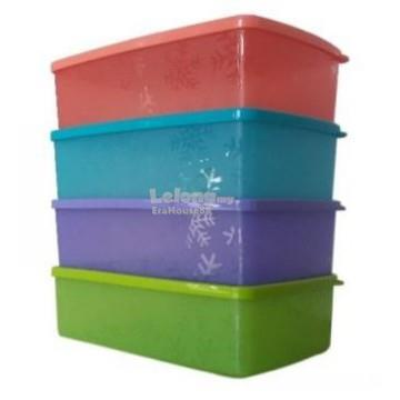 Tupperware Snowflake Double Square Round (4) 1.3 L