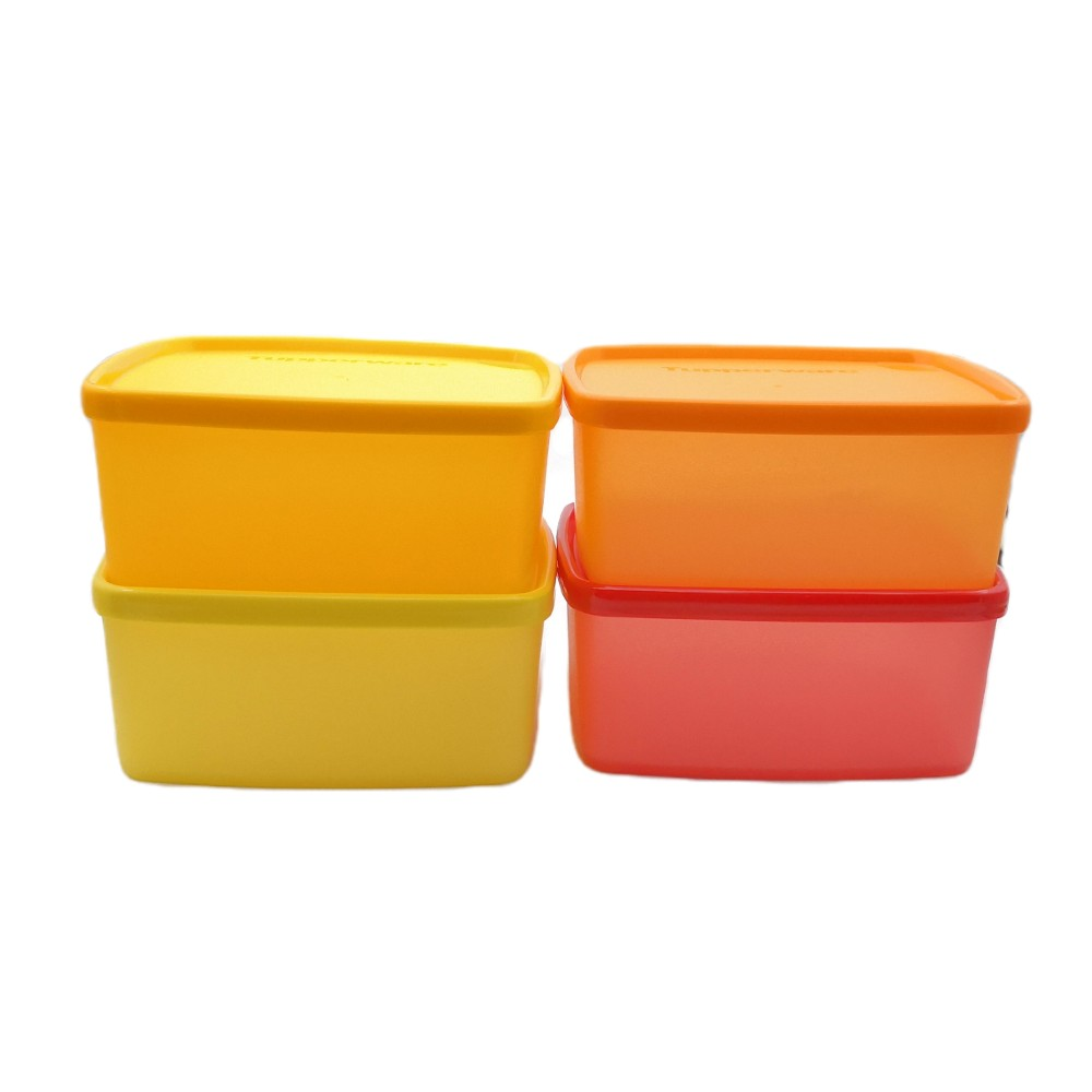 Tupperware Square Round (4) 400ml