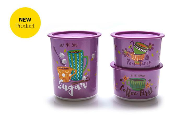 Tupperware Tea Time Canister (3pcs)