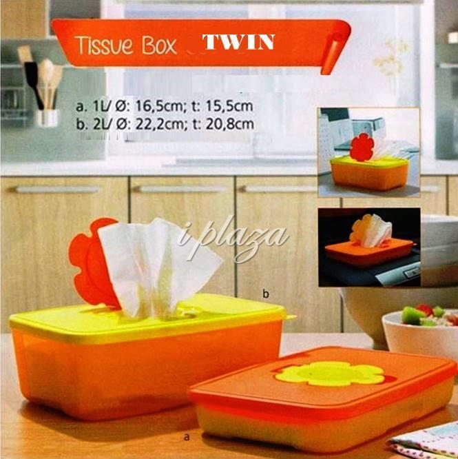 Tupperware Tissue Box set (2)
