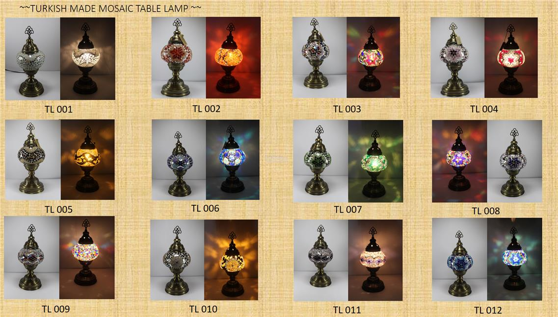 Turkey Made Original Mosaic Table Lamp
