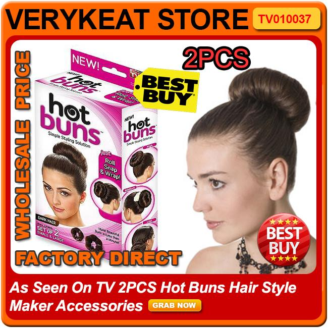 As Seen On TV 2PCS Hot Buns Hair Style Maker Accessories