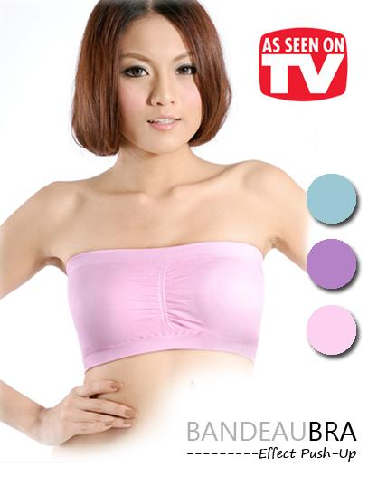As Seen On TV~ Bandeau Bra with pads (3 pcs)15548-BPP
