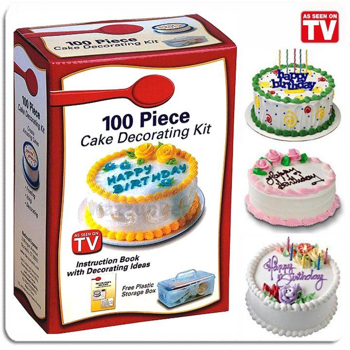 As Seen On TV~ Betty Crocker 100 Piece Cake Decorating Kit