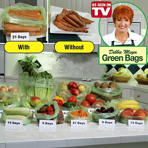 As Seen On TV~ Debbie Meyer Green Bags