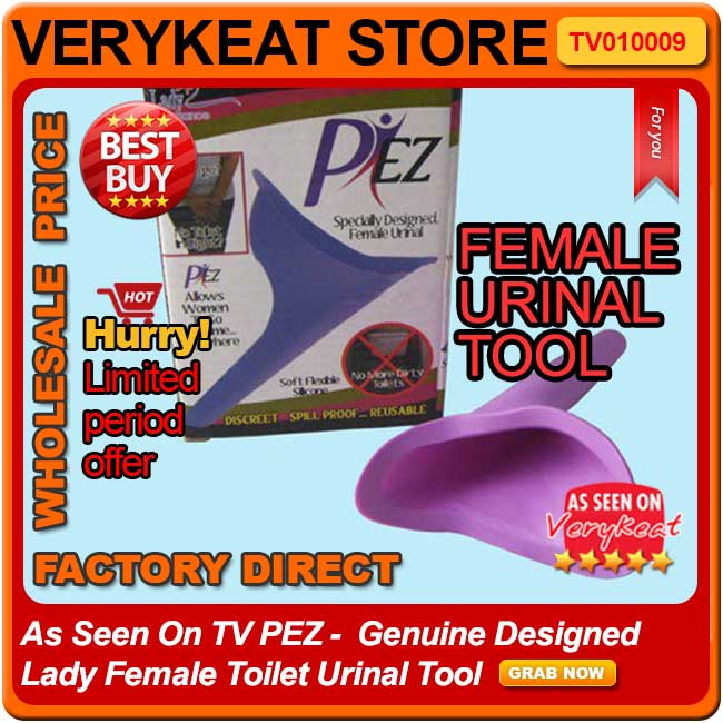 As Seen On TV PiEZ -  Genuine Designed Lady Female Toilet Urinal Tool