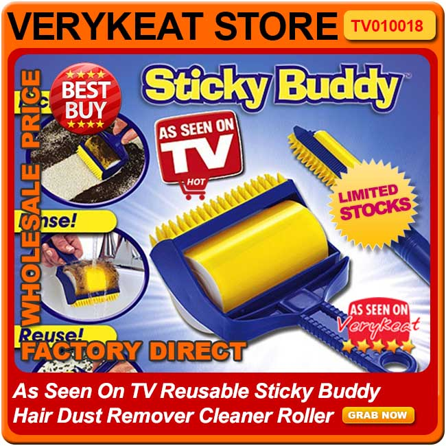 As Seen On TV Reusable Sticky Buddy Hair Dust Remover Cleaner Roller