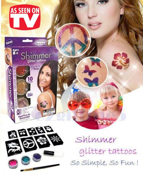 As Seen On TV~ Shimmer Glitter Tattoos