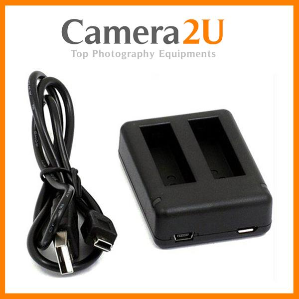 Twin Battery USB Charger for GoPro Hero4 Hero 4 Action Camera