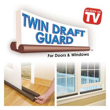 Twin Draft Door Guard Blocks Dust , Debris Keeps Cool Air Cond Air In