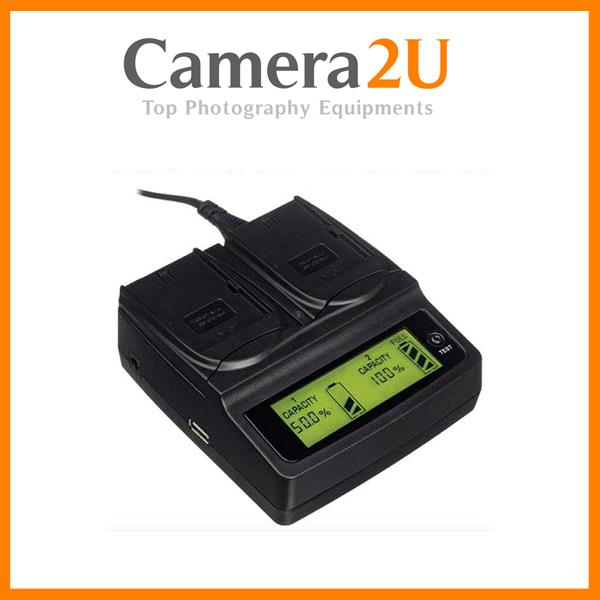 Twin Dual Battery Charger for Canon EOS 7D 5D MK II MK III 6D 70D 60D