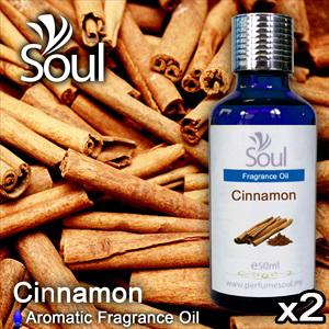 Twin Pack Fragrance Cinnamon - 50ml