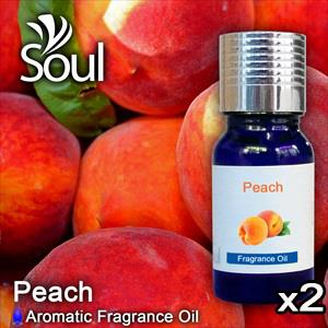 Twin Pack Fragrance Peach - 10ml