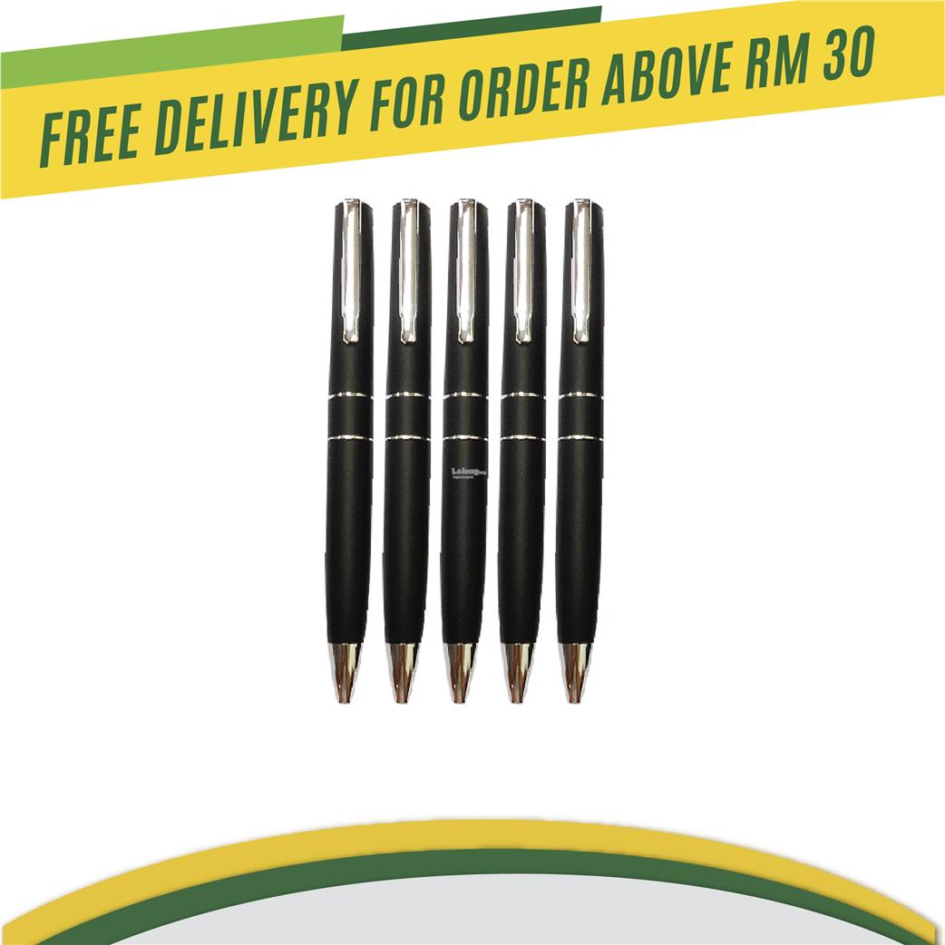 Twin ring roller ball pen or ball pen black colour stylish printing
