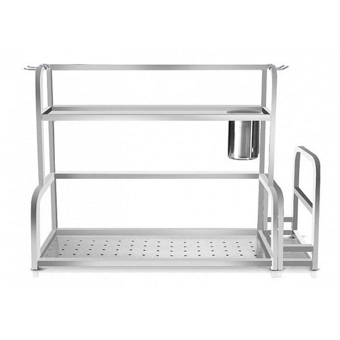 Two-Tier kitchen rack with knife slot and board holder - 40cm