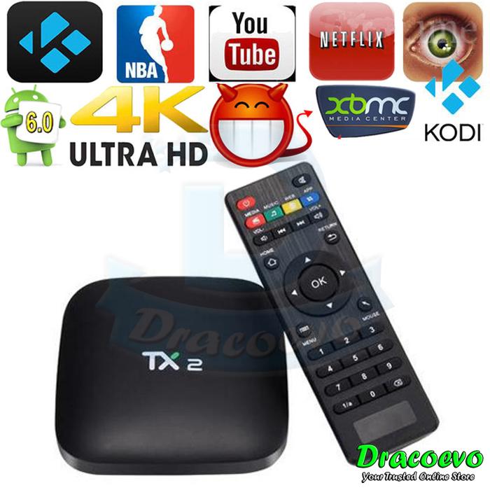 TX2 Android 6 0 TV BOX 2GB 16GB Rockchip RK3229 Cortex A7