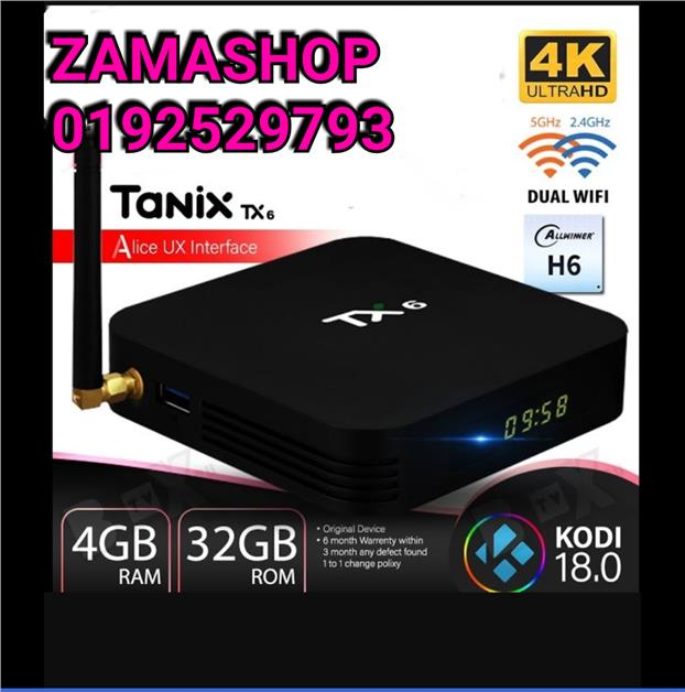 TX6 4G/32G FULL SETTING APPS WIFI 5G BLUETOOTH 4K ANDROID TV BOX