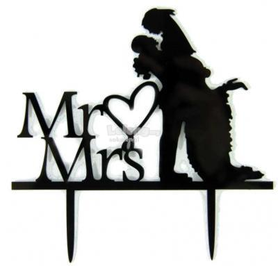 TXCT014 Acrylic Wedding Cake Topper
