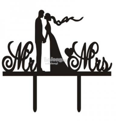 TXCT316 Acrylic Wedding Cake Topper