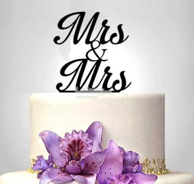 TXCT79 Acrylic Wedding Cake Topper