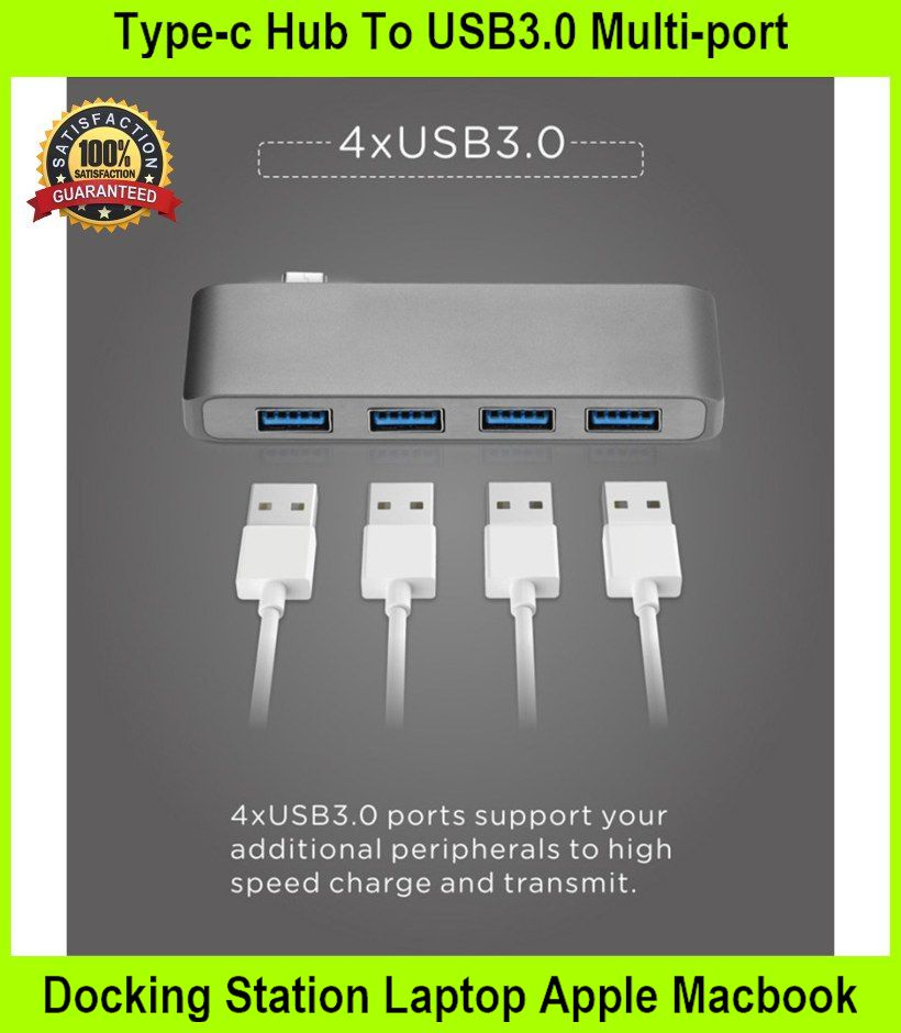 Type-c Hub To USB3.0 Multi-port Docking Station Laptop APPL M - [GREY]