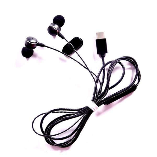 Type-C Plug In-Ear Wired Metal Earphone with Mic