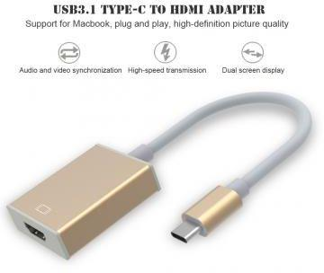 Type C USB 3.1 to HDMI Converter Adapter Cable Support 4K 2K UHD