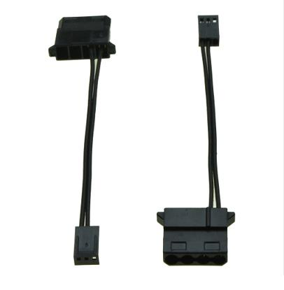 Type D 4pin to 3pin Female Fan Cable for Computer Case