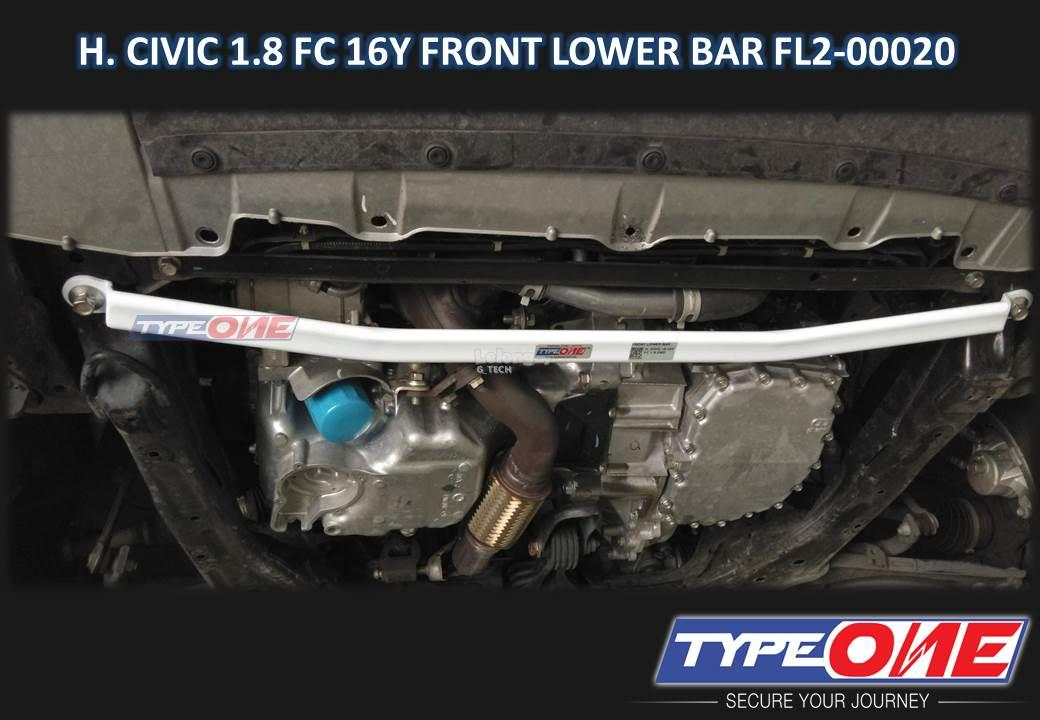 Type One Safety Bar-Honda Civic 1.8 FC 2016 (Front Lower Bar)