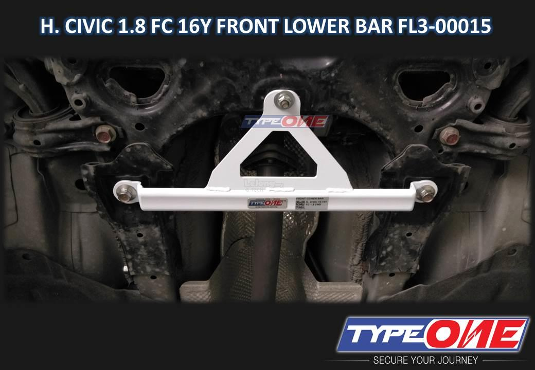 Type One Safety Bar-Honda Civic FC 16Y 1.5T/1.8 2WD (Front Lower Bar)