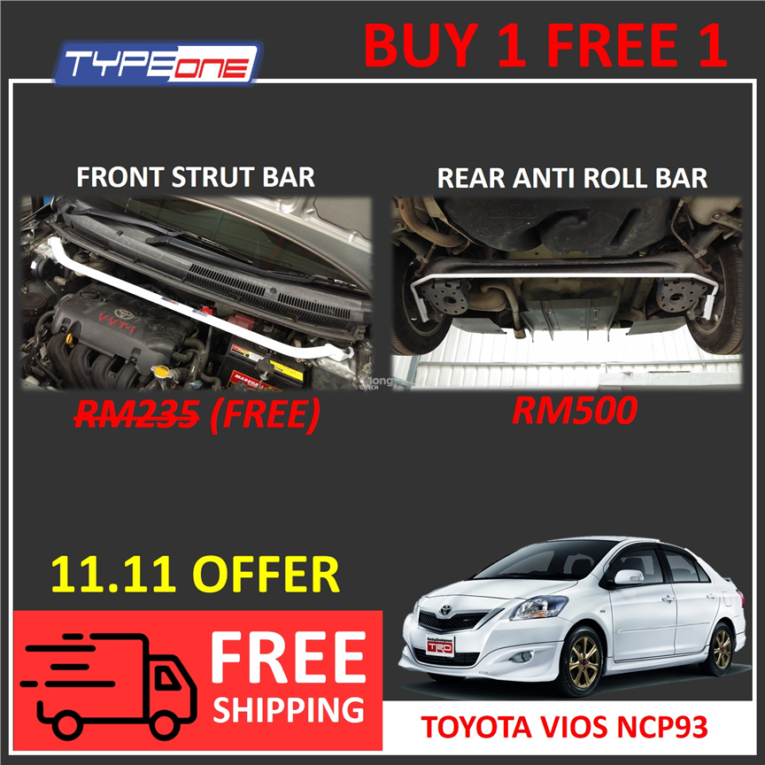 Type One Safety Bar - TOYOTA VIOS NCP93
