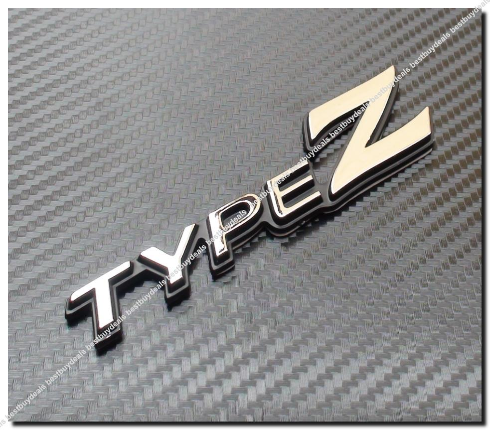 Type Z 3d Chrome Car Badge Decal Emb End 2272016 915 Pm