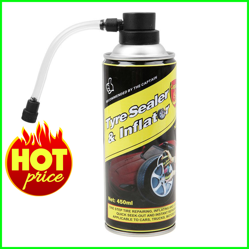 Tyre Sealer  & Inflator Emergency Tyre Repair 450ml