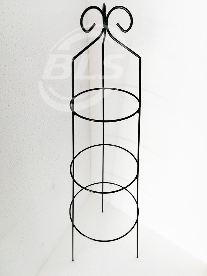 U CAGE HEIGHT 78CM CODE NO. 127 THREE POT FLOWER IRON STAND KAKI PASU