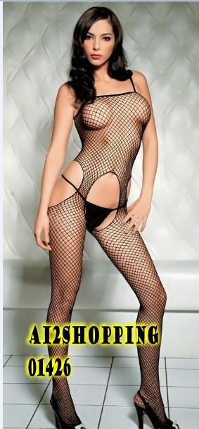 U.S hollow grid sexy coveralls one-piece socks stockings01426