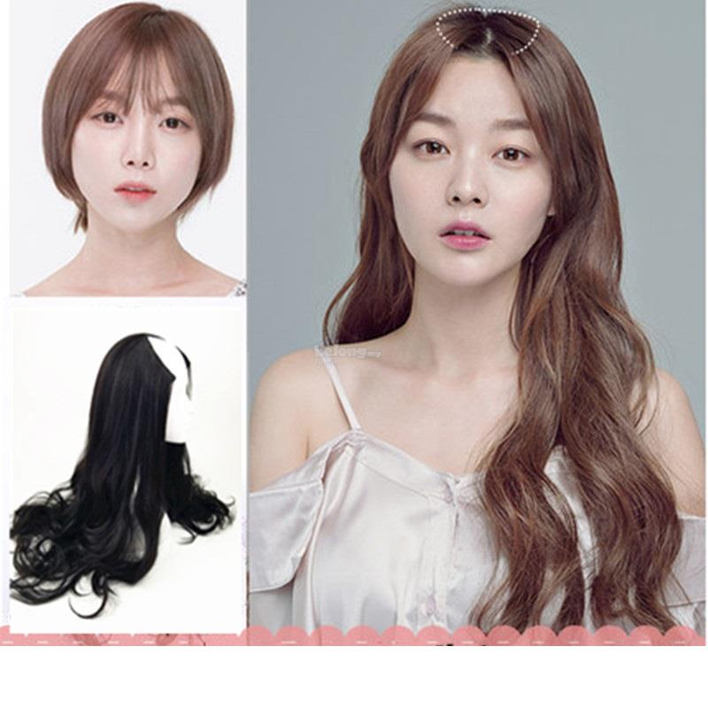 U-shaped Invisible Half Head Wig Female Long Natural Curly Hair Và..